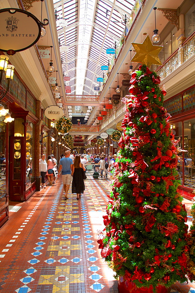 The Strand Arcade Interior at Christmas, Sydney, New South Wales, Australia, Oceania