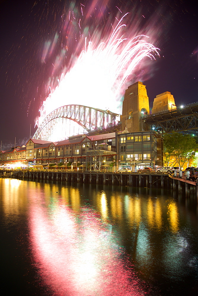 Sydney Harbour Bridge & New Years Eve Fireworks, Sydney, New South Wales, Australia, Oceania