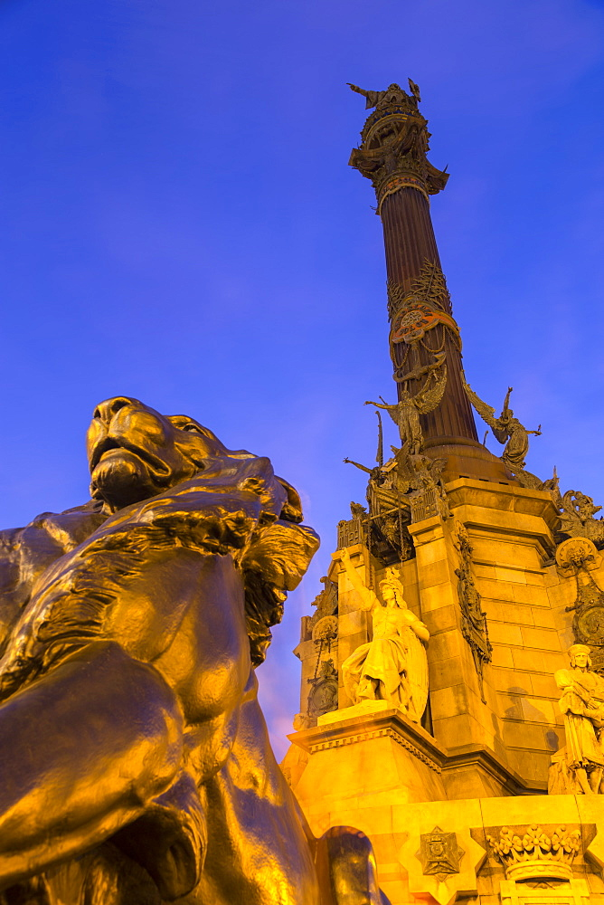 Mirador de Colon (Columbus Monument), Barcelona, Catalonia, Spain, Europe
