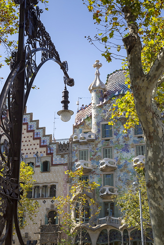 Antoni Gaudi's Casa Batllo building, UNESCO World Heritage Site, Barcelona, Catalonia, Spain, Europe