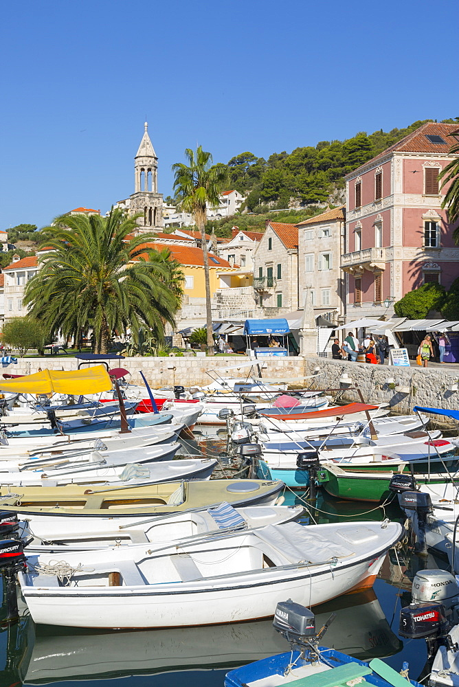 Harbour Boats, Hvar, Hvar Island, Dalmatia, Croatia, Europe