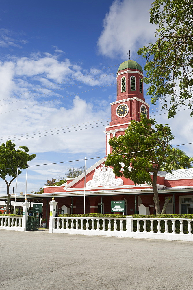 The Garrison Savannah, Clock Tower, Bridgetown, Christ Church, Barbados, West Indies, Caribbean, Central America