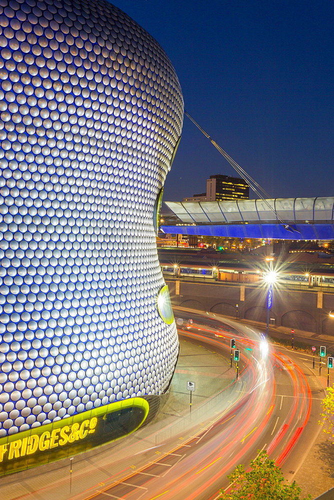 Bullring and Selfridges at dusk, Birmingham, West Midlands, England, United Kingdom, Europe