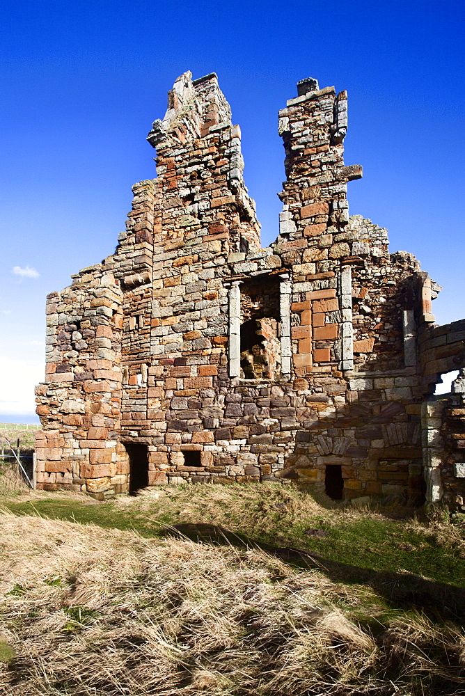 The Ruin of Newark Castle on the Fife Coast Path near St. Monans, Fife, Scotland, United Kingdom, Europe - 845-1040