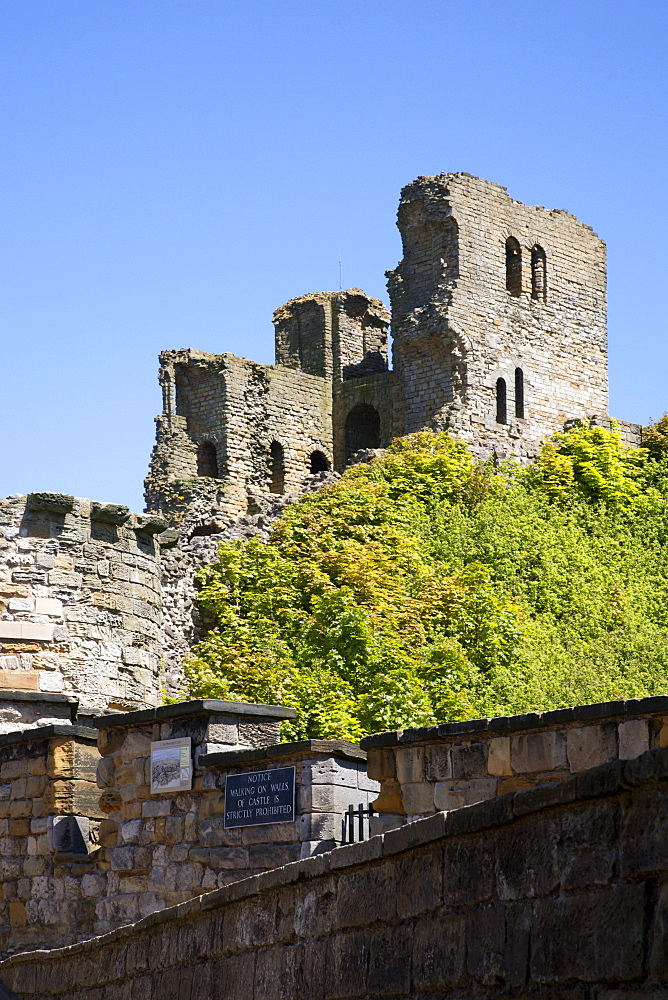 Scarborough Castle Keep, Scarborough, North Yorkshire, Yorkshire, England, United Kingdom, Europe