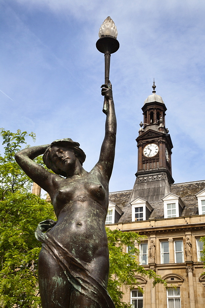 Even Statue in City Square, Leeds, West Yorkshire, Yorkshire, England, United Kingdom, Europe