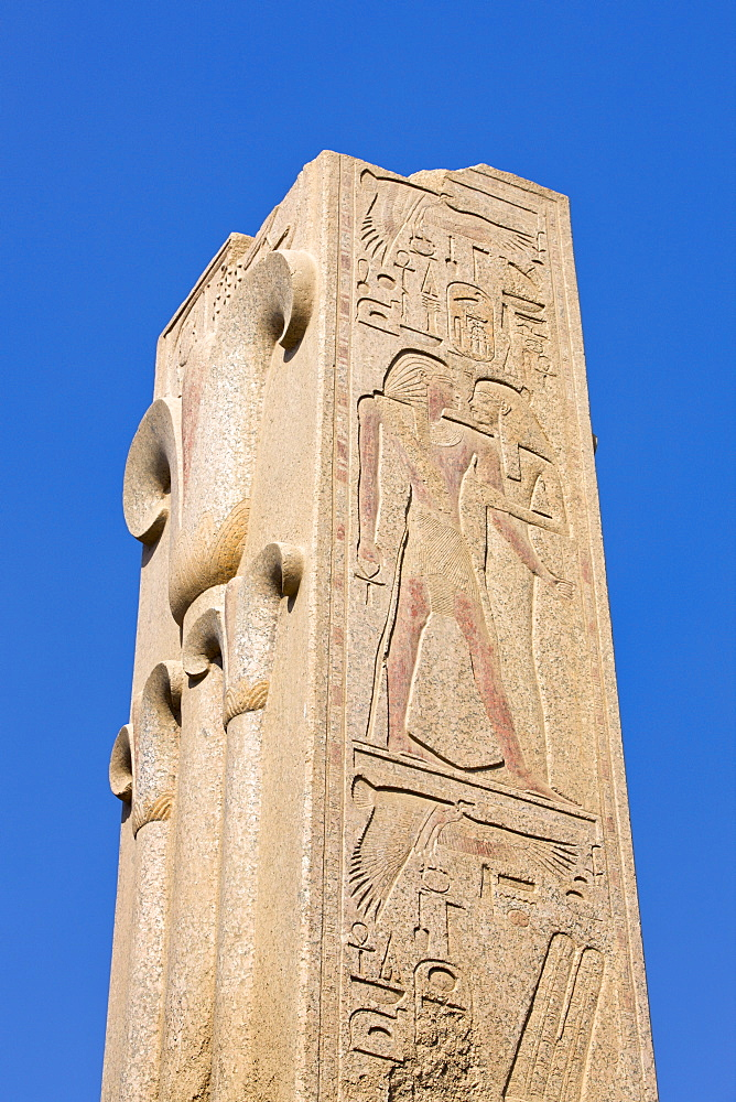 Broken obelisk at Karnak Temple, Karnak, Thebes, UNESCO World Heritage Site, Egypt, North Africa, Africa