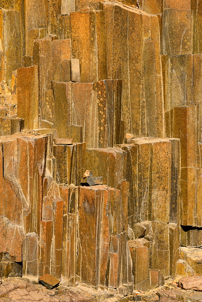 A geological formation of dolomite located near Twyfelfontein, Namibia, Africa