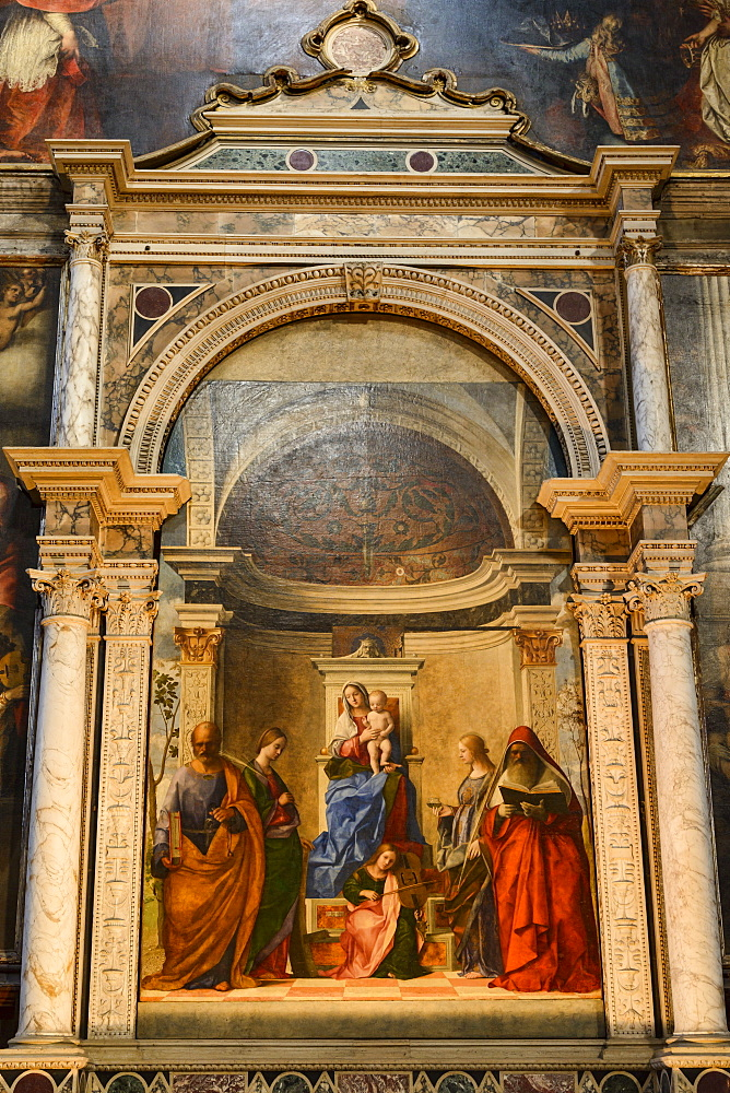 San Zaccaria Altarpiece by Giovanni Bellini, San Zaccaria church, Venice, UNESCO World Heritage Site, Veneto, Italy, Europe - 847-414