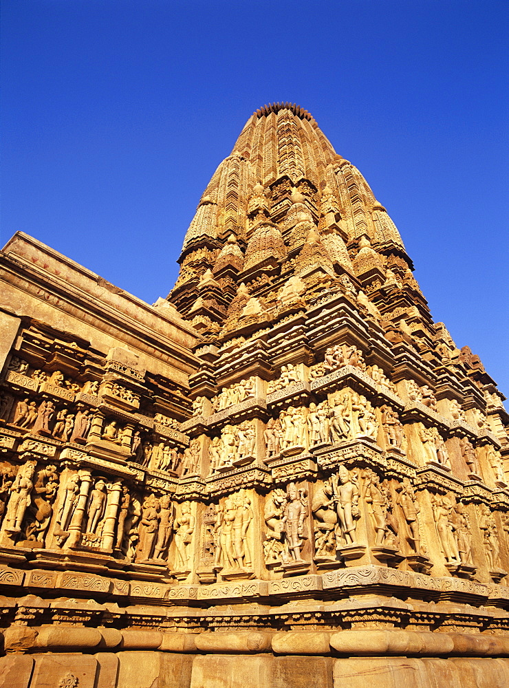 The 10th century Jain Parsvanatha temple at Khajuraho, UNESCO World Heritage Site, Madhya Pradesh, India, Asia