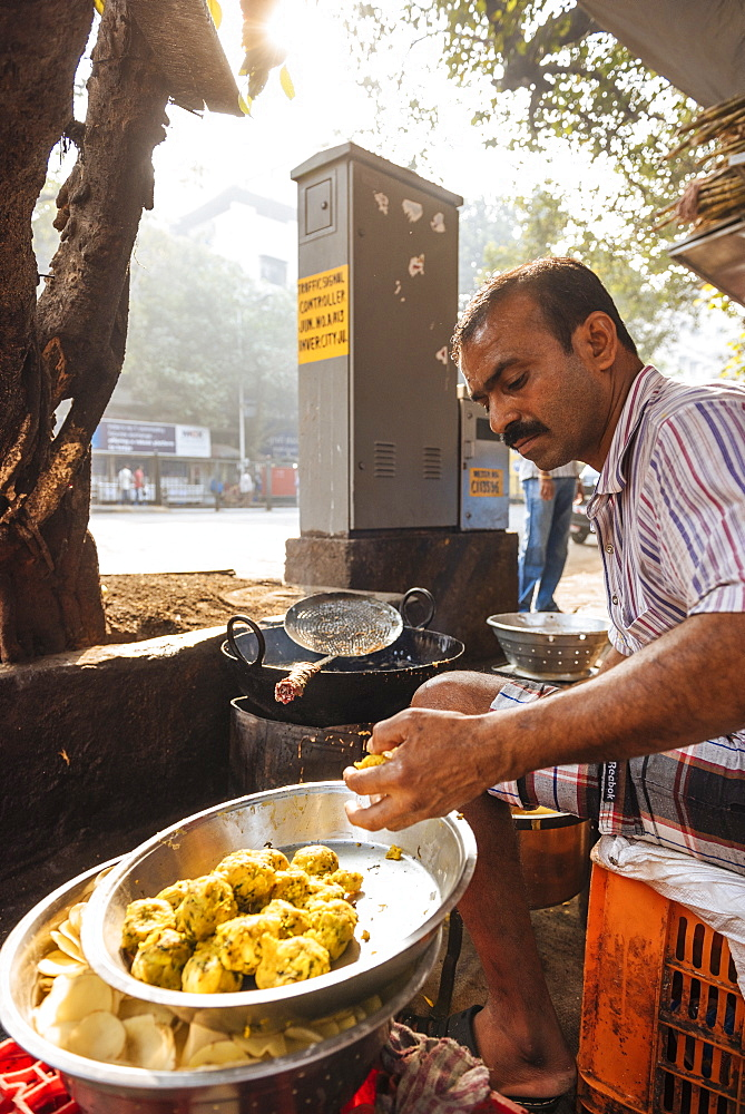 Street food stall, Mumbai, India, South Asia