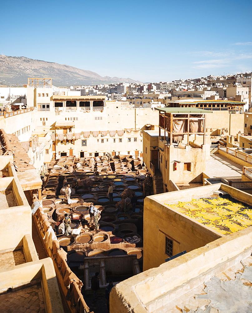 Chouara Tannery, Medina, Fes el Bali, Fes, Morocco, North Africa, Africa