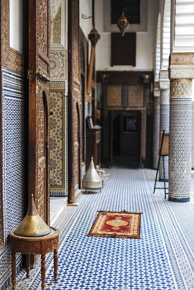 Interior of Musee Riad Belghazi, Fes, Morocco, North Africa