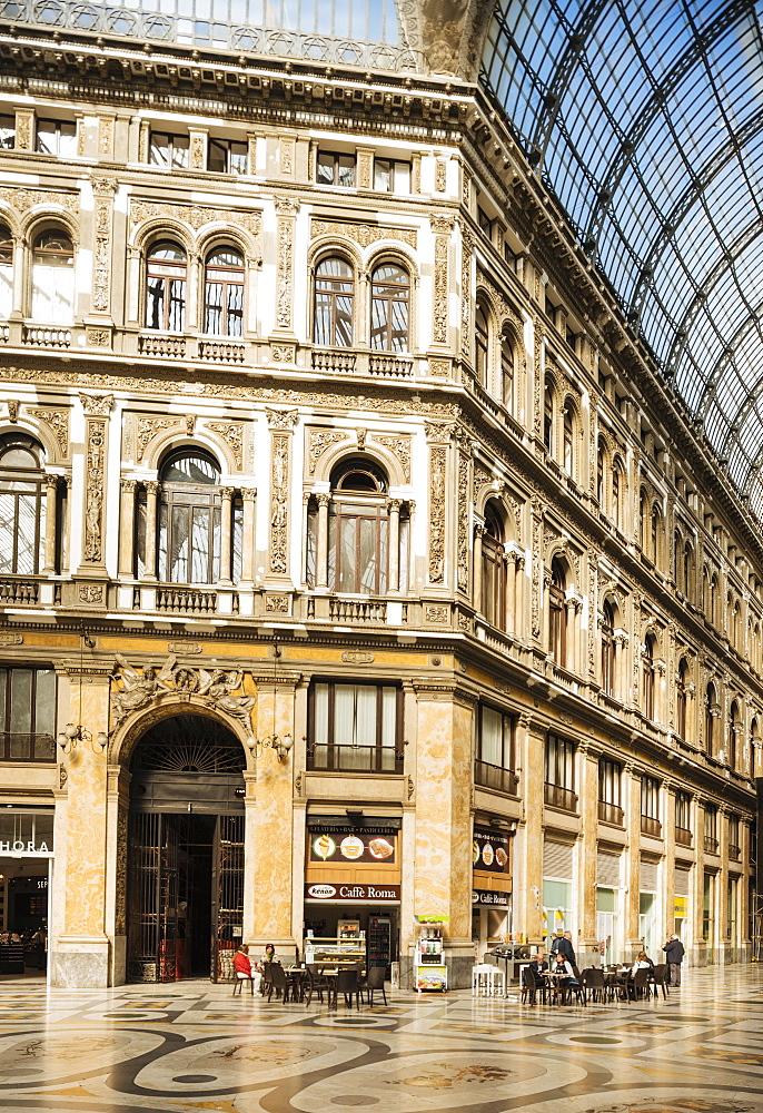 Interior of Galleria Umberto I, Naples, Italy, Europe