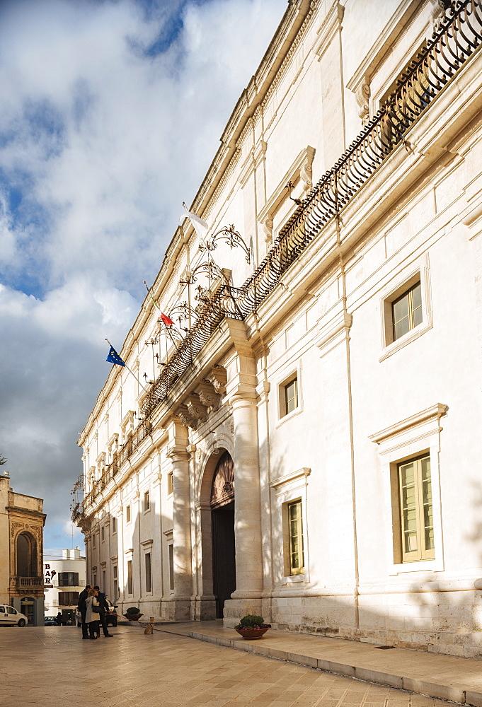 Exterior of Palazzo Ducale, Centro Storico, Martina Franca, Puglia, Italy, Europe