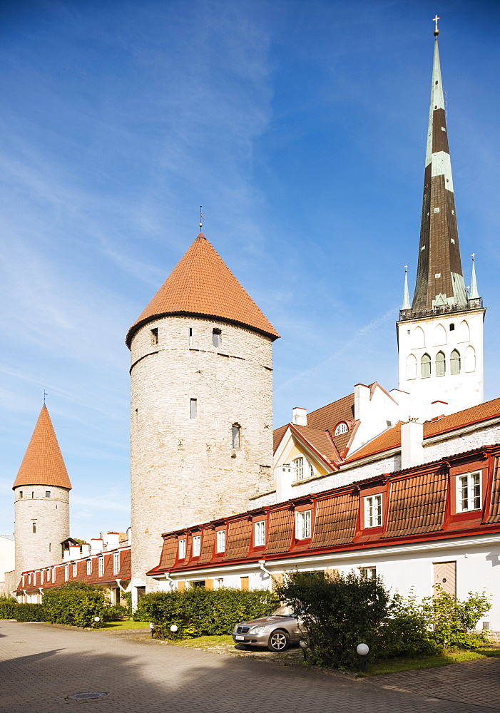 The Old City walls, Old Town, Tallinn, Estonia, Europe - 848-1405