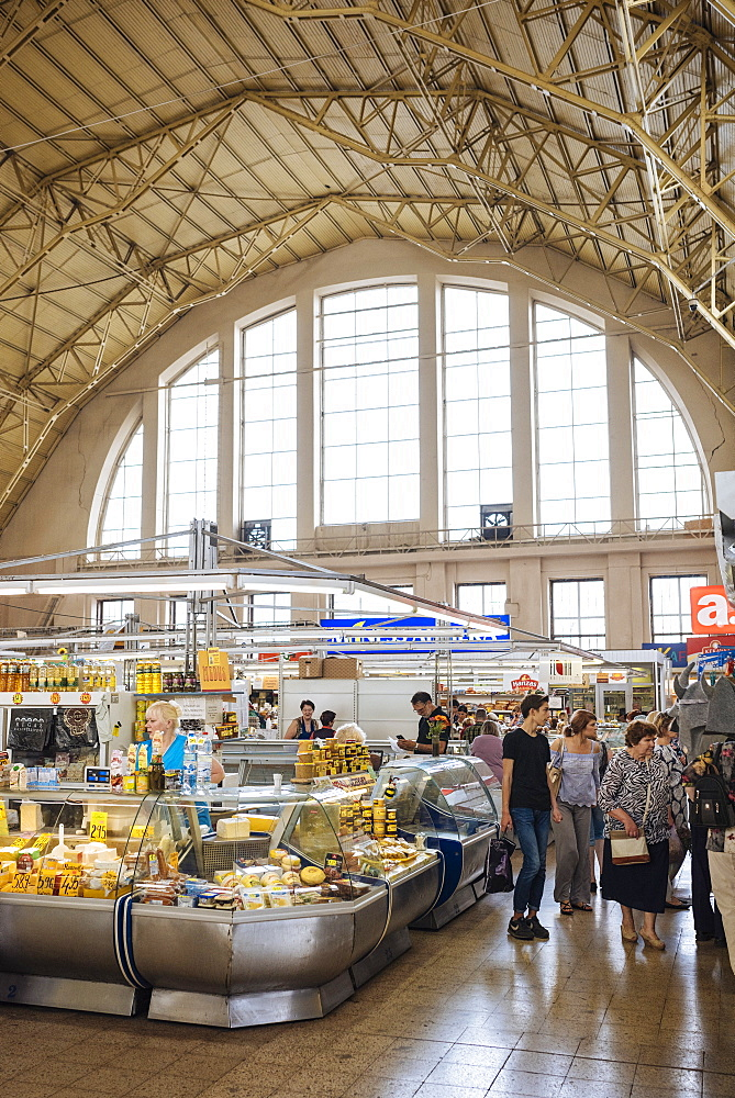 Interior of Riga Central Market, Riga, Latvia, Baltic States, Europe - 848-1424
