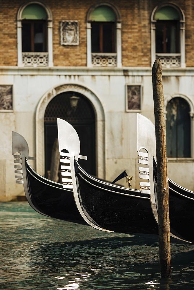Detail of Gondola, Venice, UNESCO World Heritage Site, Veneto Province, Italy, Europe