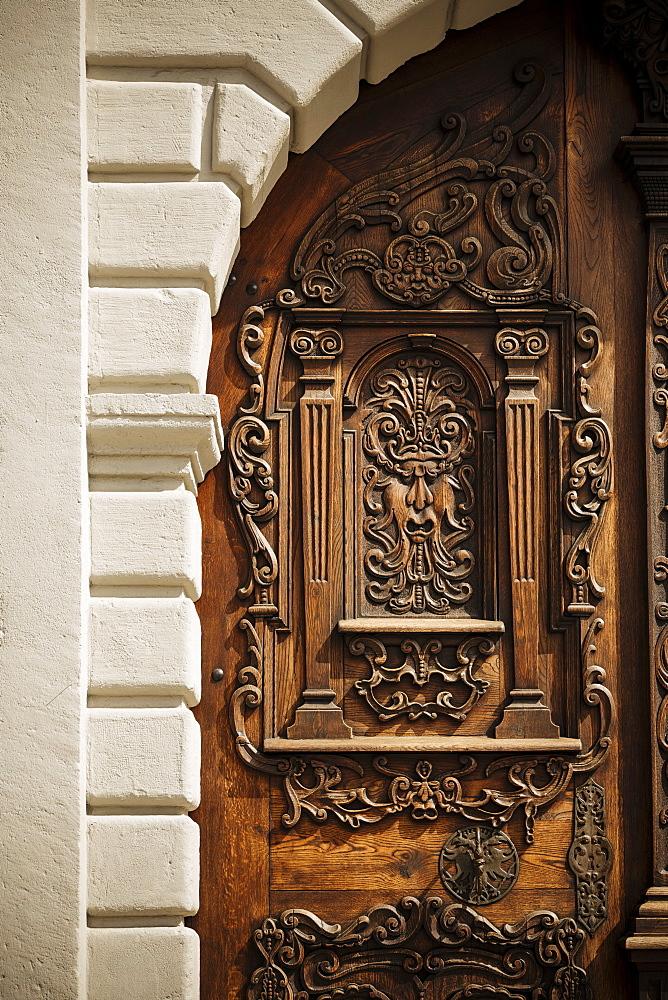 Traditional Doorway, Old Town, Bratislava, Slovakia, Europe