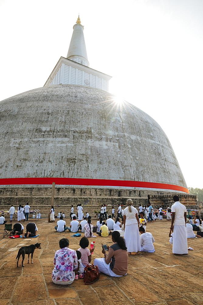 Ruwanweli Saya Dagoba (Golden Sand Stupa), Anuradhapura, North Central Province, Sri Lanka, Asia - 848-1743