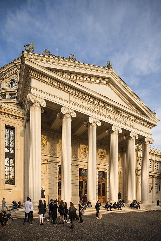 Exterior of Romanian Athenaeum Concert Hall, Bucharest, Romania, Europe