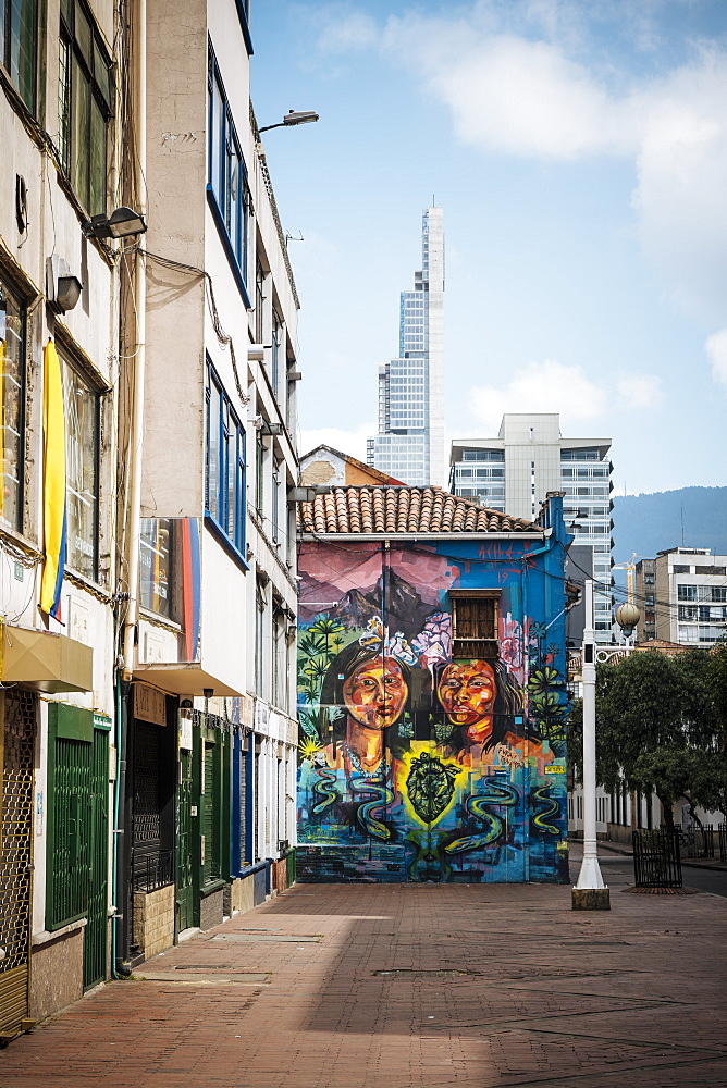 Wall Mural, Bogotá, Cundinamarca, Colombia, South America