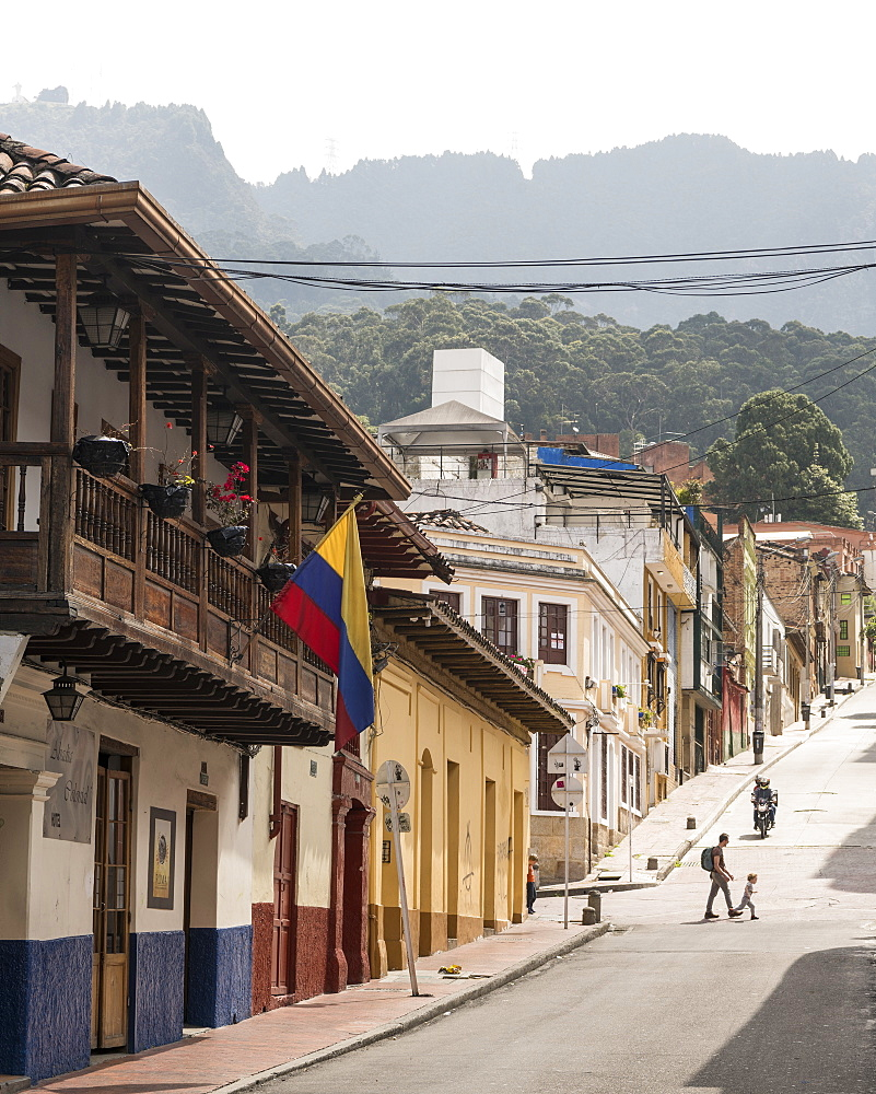 Street Scene, La Candelaria, Bogotá, Cundinamarca, Colombia, South America