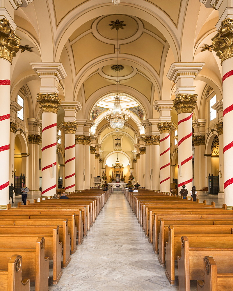 Interior of National Cathedral, Bolivar Square, La Candelaria, Bogota, Cundinamarca, Colombia, South America
