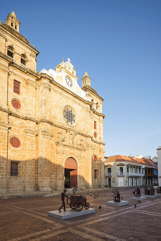 Church of San Pedro, Old City, UNESCO World Heritage Site, Cartagena, Bolivar Department, Colombia, South America - 848-2095