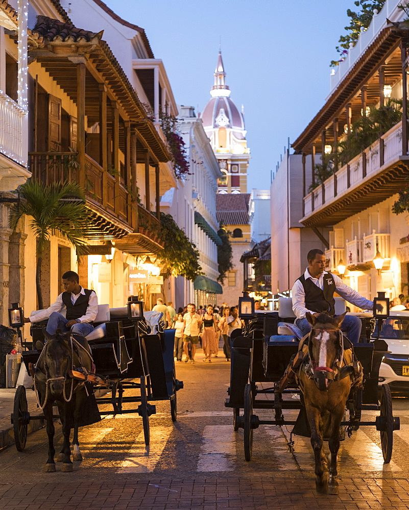 Carriages, Cartagena, Bolivar Department, Colombia, South America - 848-2096