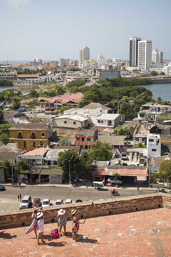 View from Castillo de San Felipe de Barajas, Cartagena, Bolivar Department, Colombia, South America - 848-2119