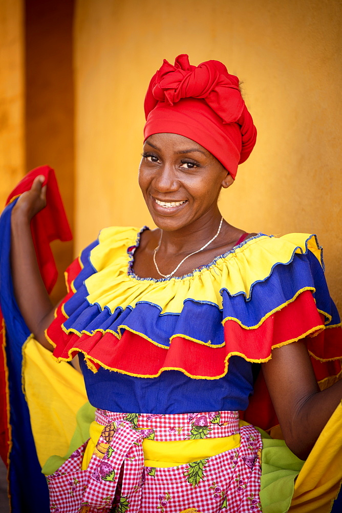 Portrait of Alexandra, Old Town, Cartagena, Bolivar Department, Colombia, South America - 848-2127