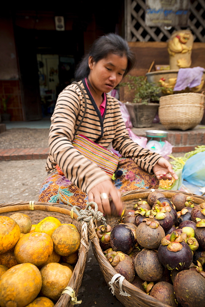 Groceries at Morning Market, Luang Prabang, Laos, Indochina, Southeast Asia, Asia