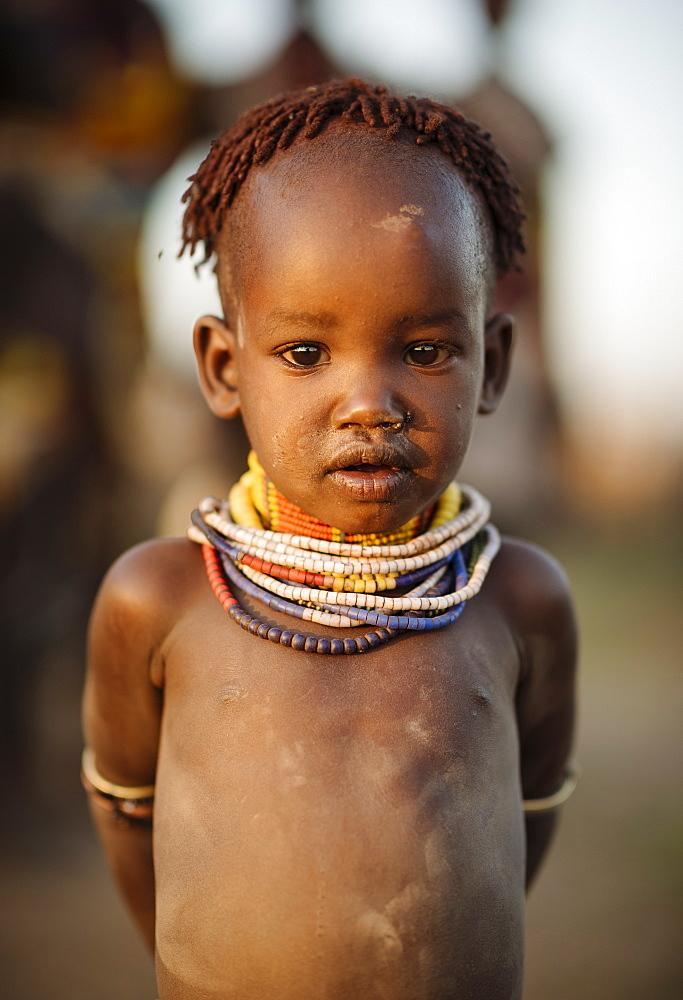 Portrait of Gadi, Hamar Tribe, Omo Valley, Ethiopia, Africa