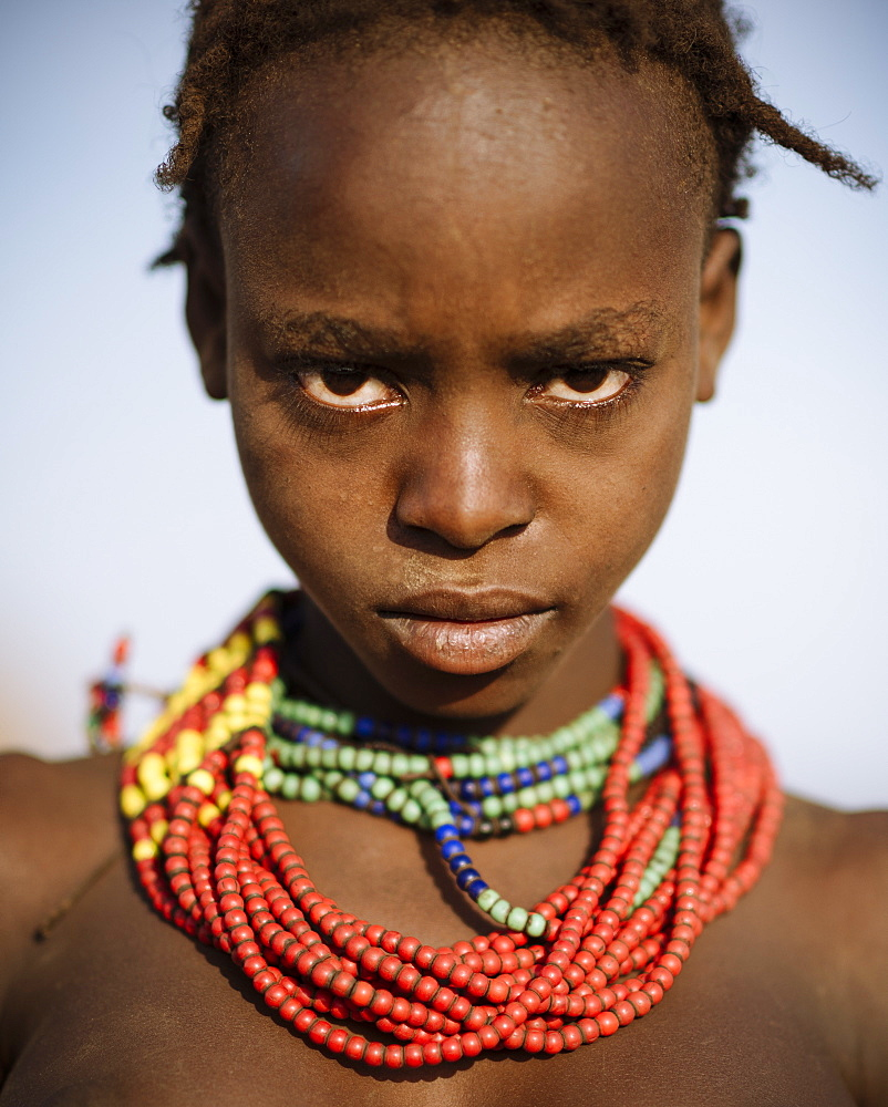 Portrait of Guortale, Dassanech Tribe, Salany Village, Omorate, Omo Valley, Ethiopia, Africa