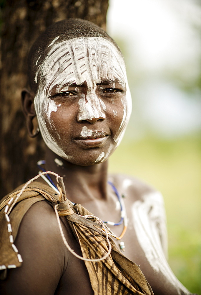 Portrait of Ngabiyo, Mursi Tribe, Minisha Village, Omo Valley, Ethiopia, Africa