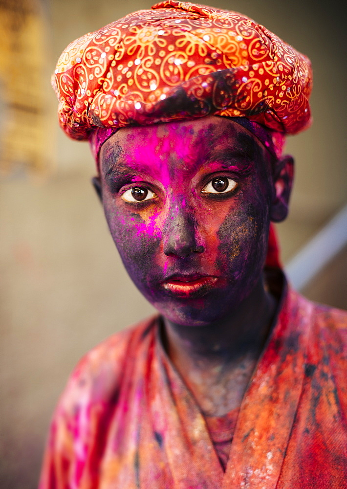 Holi Festival Celebrations in Mathura, Braj, Uttar Pradesh, India, Asia - 848-903