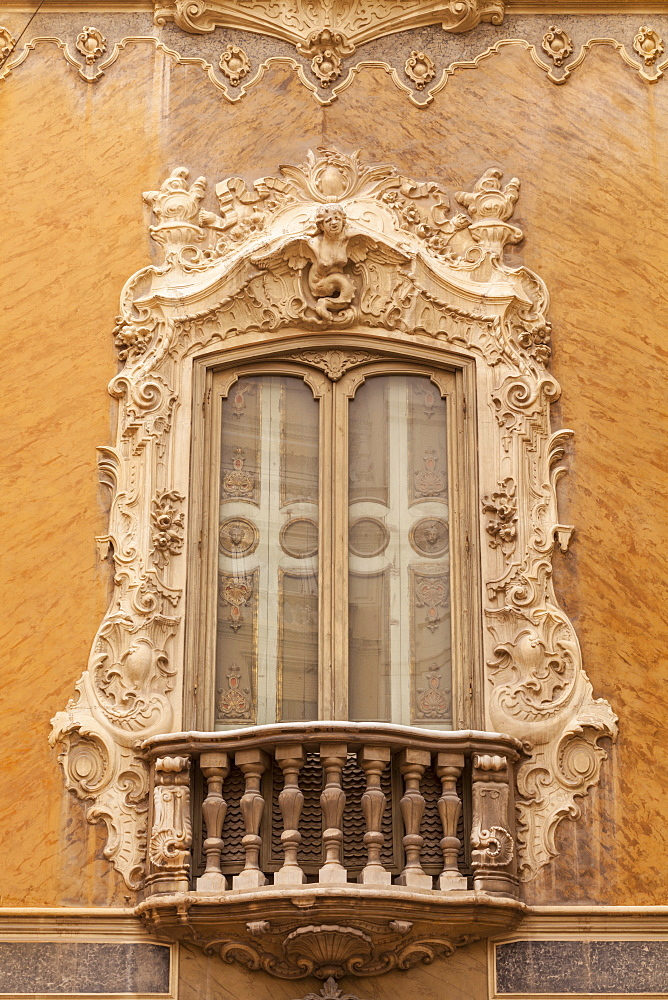 Rococo style architecture on the National Ceramics Museum in Valencia, Spain, Europe