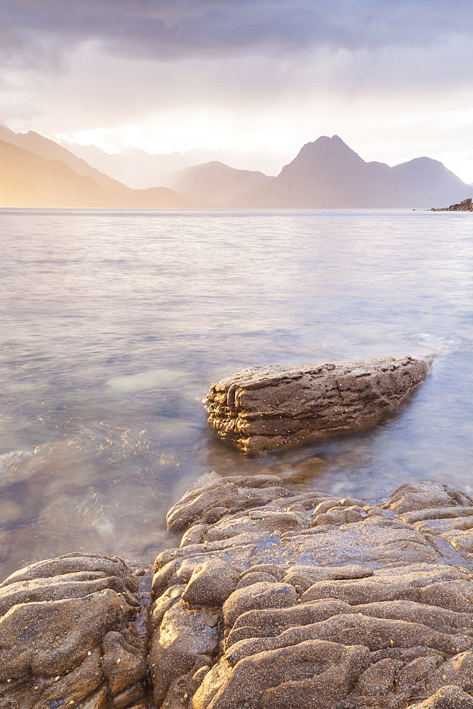 Loch Scavaig and the Cuillin Hills on the Isle of Skye, Inner Hebrides, Scotland, United Kingdom, Europe