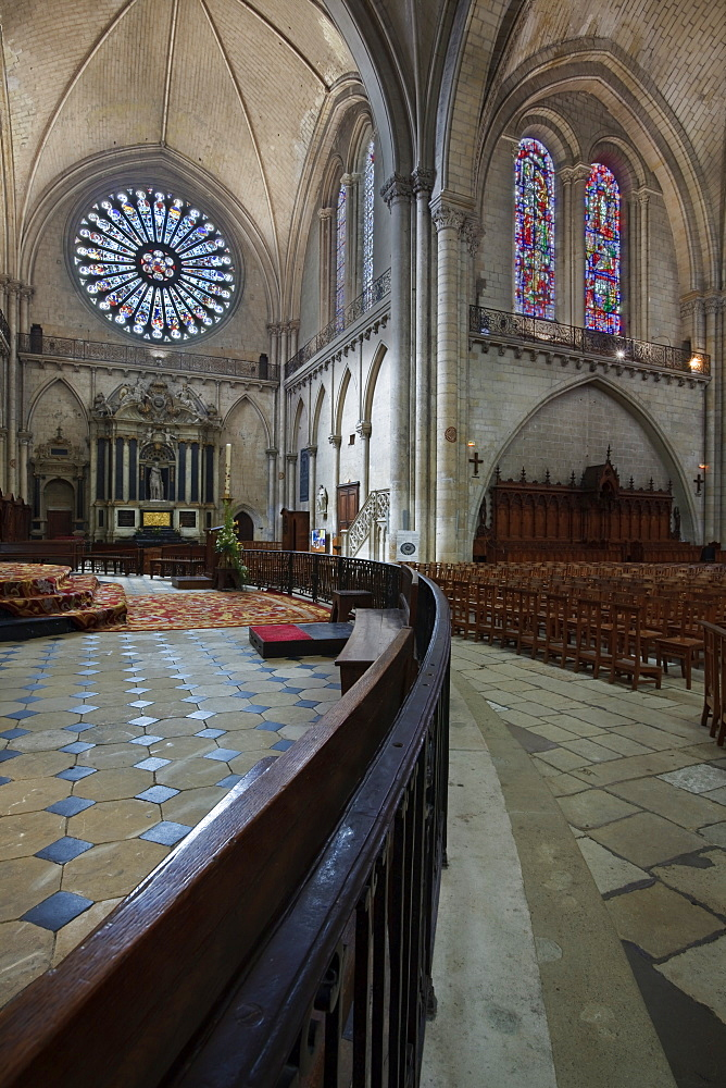 Angers Cathedral, Angers, Anjou, Maine-et-Loire, Pays de la Loire, France, Europe