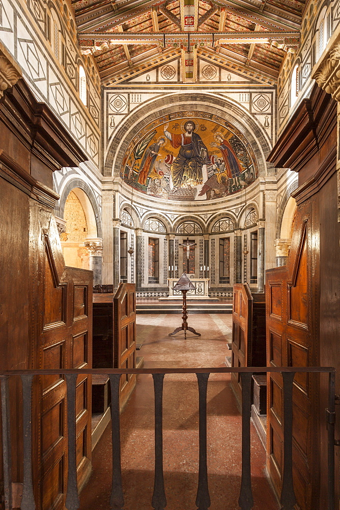 Basilica di San Miniato al Monte, Florence, Tuscany, Italy, Europe - 849-1663