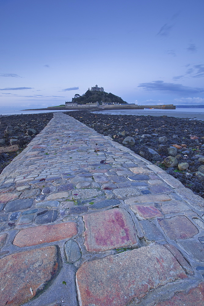 St. Michael's Mount near to Marazion at dawn, Cornwall, England, United Kingdom, Europe