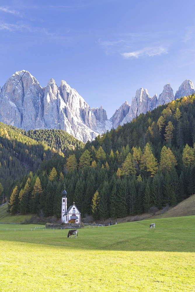 St. Johann, Ranui, Val di Funes, the Dolomites, South Tyrol, Italy, Europe - 849-1768