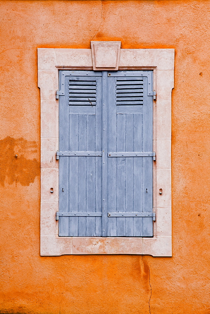 Typical French shutters in the old town of Le Mans, Sarthe, Pays de la Loire, France, Europe