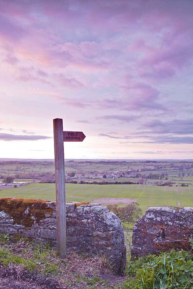 The North Yorkshire countryside from Kirby Hill, Yorkshire, England, United Kingdom, Europe