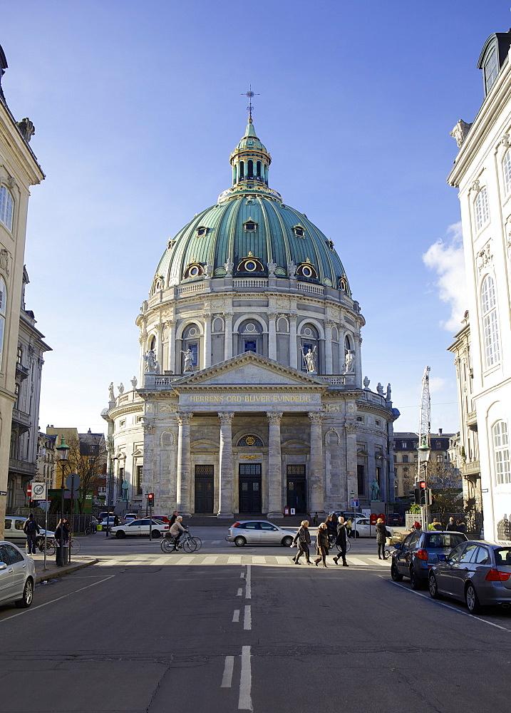 Amalienborg Marmorkirken (Marble Church) (Frederik's Church), Copenhagen, Denmark, Scandinavia, Europe