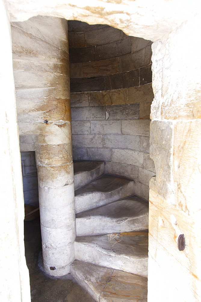 Steps inside the Leaning Tower of Pisa, UNESCO World Heritage Site, Tuscany, Italy, Europe