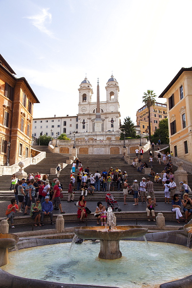Spanish Steps and Trinita dei Monti, Rome Lazio Italy, Europe - 851-548