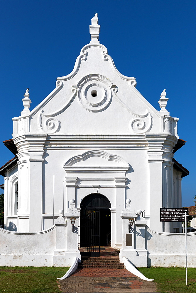 The Dutch Reformed Church in the historic Galle Fort, Sri Lanka - 851-683