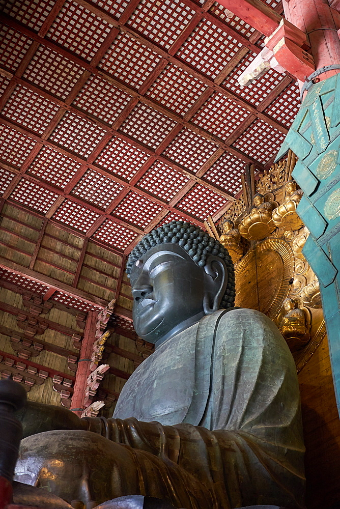 The Great Buddha Hall in the Todaiji Temple, UNESCO World Heritage Site, Nara, Honshu, Japan, Asia